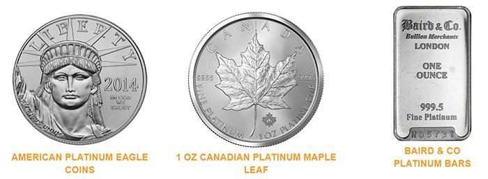 Noble Gold - Platinum Coins